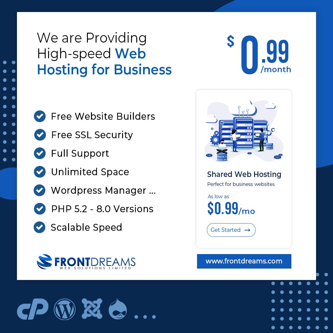 Frontdreams Web Hosting for business